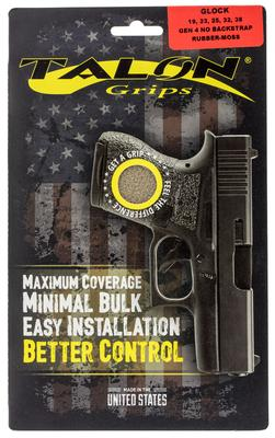Talon 110M Glock 19/23/25/32/38 Gen 4 without Backstraps Rubber Adhesive Grip Textured Moss