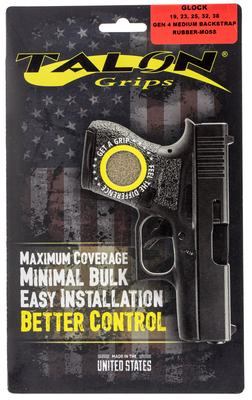 Talon 111M Glock 19/23/25/32/38 Gen 4 with Medium Backstraps Rubber Adhesive Grip Textured Moss