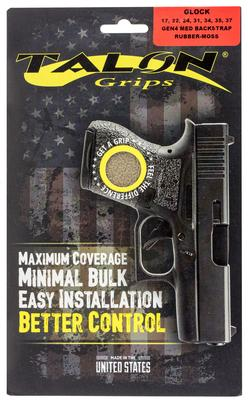 Talon 114M Glock 17/22/24/31/34/35/37 Gen 4 with Medium Backstraps Rubber Adhesive Grip Textured Moss