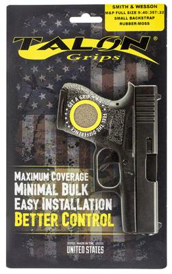 Talon 703M S&W M&P Full Size 22/9/357/40 with Small Backstraps Rubber Adhesive Grip Textured Moss