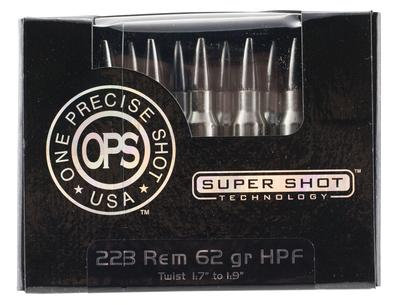 Ammo Inc 223062HPF OPS 223 Remington/5.56 NATO 62 GR Hollow Point 20 Bx/ 10 Cs