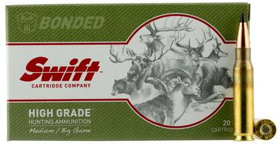 Swift 10048 Medium/Big Game Scirocco II 308 Winchester/7.62 NATO 150 GR Spitzer Boat Tail 20 Bx/ 10 Cs