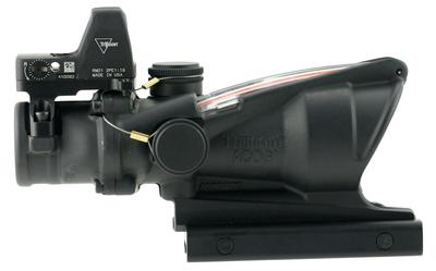 Trijicon 100550 ACOG 4x32 with RMR Type 2 4x 32mm Obj 36.8 ft @ 100 yds FOV  Tube Black Dual Illuminated Crosshair 223 Ballistic Red