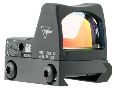 Trijicon 700601 RMRLED  Type 2 with RM33 Picatinny Rail 1x  Obj Unlimited Eye Relief 3.25 MOA Black