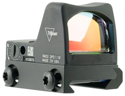 Trijicon 700608 RMR Type 2 with RM33 Picatinny Rail 1x  Obj Unlimited Eye Relief 6.5 MOA Black