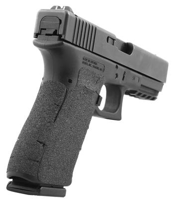 Talon 372R Glock 17 Gen 5 Granulate Adhesive Grip with Large Backstrap Textured Granulate Black