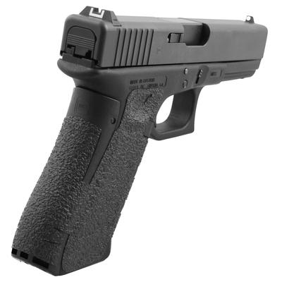 Talon 375R Glock 19 Gen 5 Rubber Adhesive Grip with Large Backstrap Textured Rubber Black