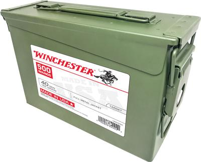 Winchester Ammo USA40AC USA Centerfire 40 Smith & Wesson (S&W) 165 GR Full Metal Jacket 500 Box Ammo Can