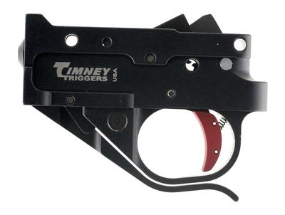 Timney Triggers 1022-2C Ruger 10/22 Trigger with Red Shoe Steel w/Aluminum Housing Black/Red
