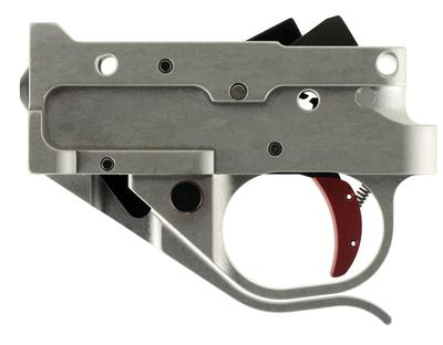Timney Triggers 1022-2C-16 Ruger 10/22 Trigger with Red Shoe Steel w/Aluminum Housing Silver/Black