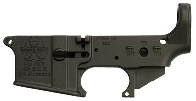 Black Rain BROSPEC15LR Spec15 Lower Multi-Caliber AR Platform Black Hardcoat Anodized