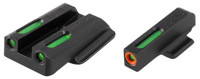 Truglo TG13RS2PC TFX PRO Ruger LC9/LC9s/LC380 Tritium/Fiber Optic w/Orange Outline Tritium/Fiber Optic Green Black