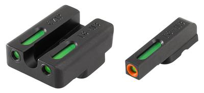 Truglo TG13TA2PC TFX PRO Taurus Mil/Slim Tritium/Fiber Optic w/Orange Outline Front Green Rear Black