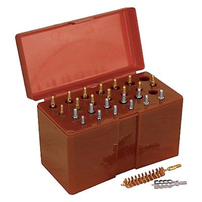 Tipton 444777 Ultra Jag Best Bore Brush Set with Hinged Box .17 - .45 Cal 26 Pieces 1 Set