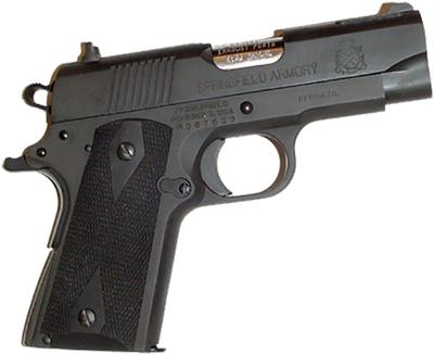 Pearce Grip PGOM2  Side Panel Grips 1911-Style Compact Black Rubber