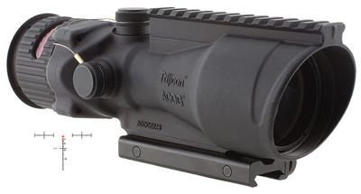 Trijicon 100002 ACOG 6x 48mm Obj 17 ft @ 100 yds FOV  Tube Dia Black Chevron