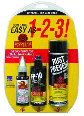 Shooters Choice CLP01 CLP-01 Cleaning Supplies Universal Gun Care Pack N/A