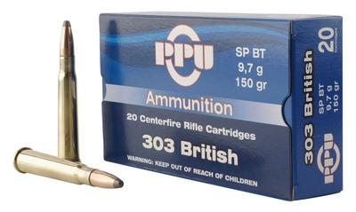 PPU PP303S1 Standard Rifle 303 British 150 GR Soft Point 20 Bx/ 10 Cs