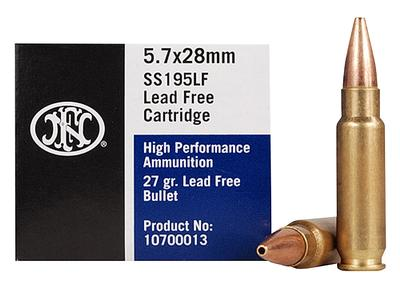FN 10700012 Centerfire 5.7mmX28mm Lead Free Hollow Point 28 GR 50Box/40Case