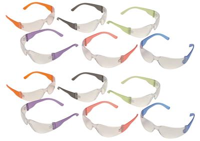 Pyramex S4110MP Intruder Multi-Color Temple Eye Protection 12 Pair