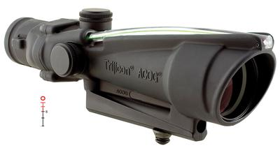 Trijicon 100152 ACOG 3.5x 35mm Obj 28.9 ft @ 100 yds FOV  Tube Dia Black Illuminated Green Donut Reticle