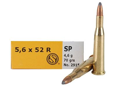Sellier & Bellot SB5652RA Rifle 5.6mmX52R 70 GR Soft Point 20 Bx/ 25 Cs