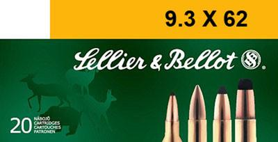Sellier & Bellot SB9362A Rifle 9.3mmX62 Mauser 285 GR Soft Point 20 Bx/ 20 Cs