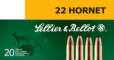 Sellier & Bellot SB22HA Rifle Training 22 Hornet 45 GR FMJ 20 Bx/ 90 Cs
