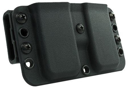 Blade- Tech Ammx0111emsw Eclipse Double Mag Pouch Black Injection Molded Thermoplastic
