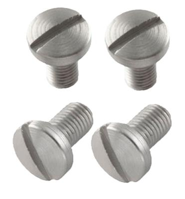 Hogue 45018 Slotted Grip Screws Colt Government 4 Slot Stainless Steel