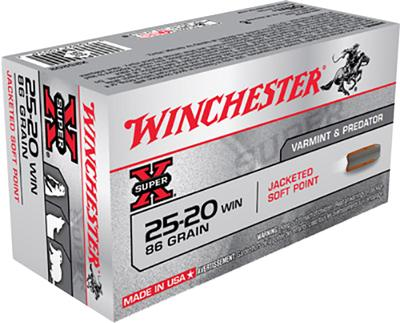 Winchester Ammo X25202 Super-X 25-20 Winchester 86 GR Soft Point 50 Bx/ 10 Cs