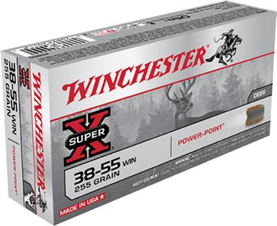 Winchester Ammo X3855 Super-X 38-55 Winchester 255 GR Soft Point 20 Bx/ 10 Cs