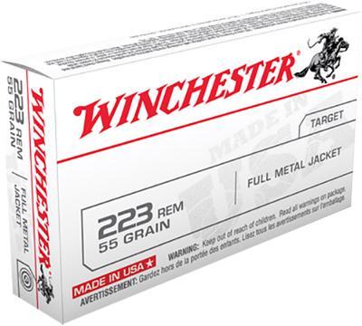 Winchester Ammo USA223R1 Best Value 223 Remington/5.56 NATO 55 GR Full Metal Jacket 20 Bx/ 50 Cs
