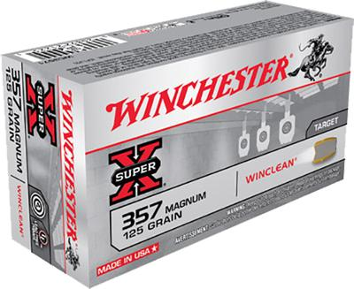 Winchester Ammo WC3571 WinClean 357 Magnum 125 GR Jacketed Soft Point 50 Bx/ 10 Cs