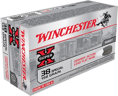 Winchester Ammo USA38CB Super-X 38 Special 158 GR Lead 50 Bx/ 10 Cs
