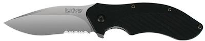 Kershaw 1605ST Clash Folder 8Cr13MoV Stainless Drop Point Blade Black Injection