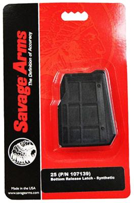 Savage 55222 25 22 Hornet 4 rd Black Finish