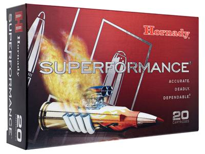 Hornady 80628 Superformance 7mm Remington Magnum 154 GR InterBond 20 Bx/ 10 Cs
