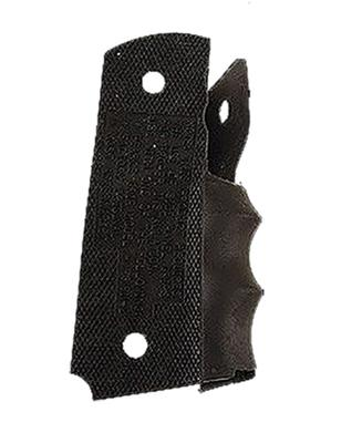 Pearce Grip PGM1911 One Side Panel w/Finger Groove Insert 1911 Govt Black Rubber