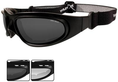 Wiley X Eyewear 70 SG-1 Safety Glasses Matte Black/Smoke,Clear