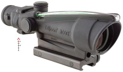 Trijicon 100144 ACOG 3.5x 35mm Obj 28.9 ft @ 100 yds FOV  Tube Dia Black Dual Illuminated Green Chevron