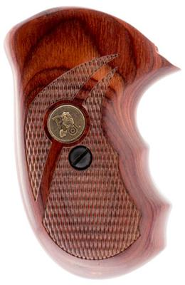 Pachmayr 63000 Renegade Laminate Revolver Grip Panels S&W J Frame Round Butt Checkered Wood Laminate Rosewood
