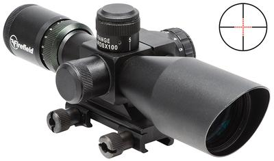 Firefield FF13014 2.5-10x40mm Obj 34.86-11.53 ft @ 100 yds FOV 30mm Tube Dia Black Dual Illuminated Mil-Dot