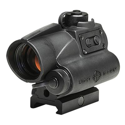 Sightmark SM26021 Wolverine 1x 23mm Obj Unlimited Eye Relief 4 MOA Black Matte
