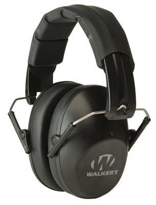 Walkers Game Ear GWPFPM1 Pro Low Profile Folding Muff Earmuff 22 dB Black