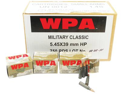 Wolf MC545BHP Military Classic 5.45x39mm Boat Tail Hollow Point 55 GR 750 Rds