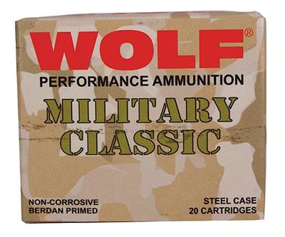 Wolf MC3006SP140 Military Classic 30-06 Springfield Soft Point 140 GR 500 Rds