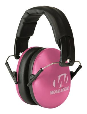 Walkers Game Ear GWPYWFM2PNK Youth & Women Folding Ear Muff 27 dB Pink