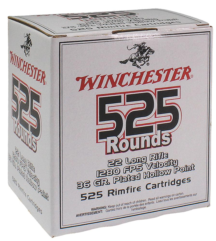 Winchester Ammo 22lr525hp 555 22 Long Rifle 36 Gr Copper- Plated Hollow Point 5250 Bx/1 Cs
