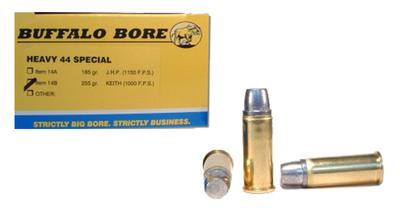Buffalo Bore Ammunition 14B/20 44 Special 255 GR Hard Cast Keith Semi-Wadcutter 20 Bx/ 12 Cs